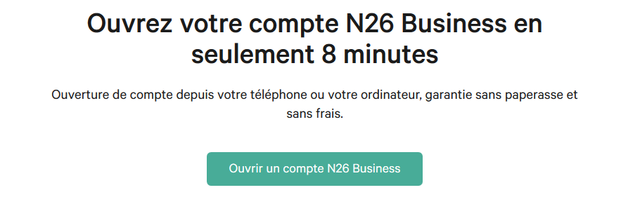 n26-business ouvrir un compte