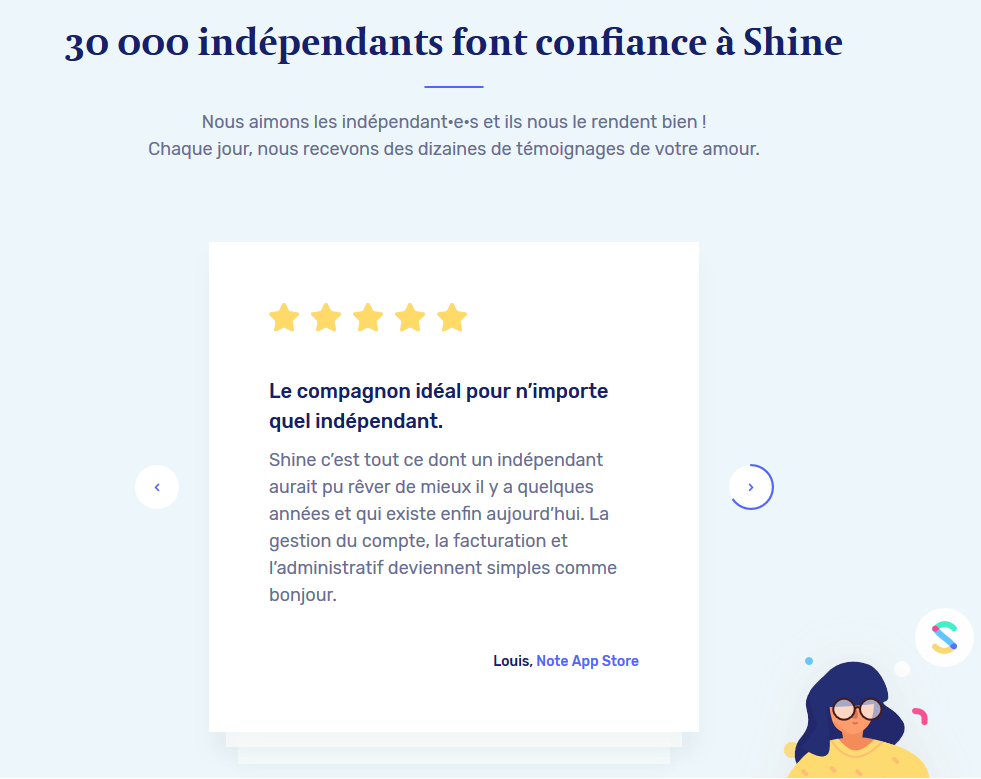 shine avis clients